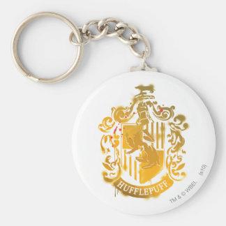 Hufflepuff Crest - Splattered Keychains