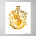 Hufflepuff Crest - Splattered Poster