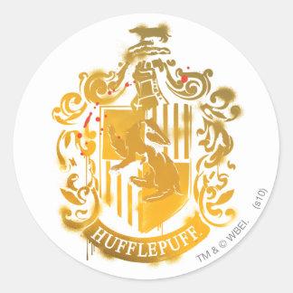 Hufflepuff Crest - Splattered Round Sticker