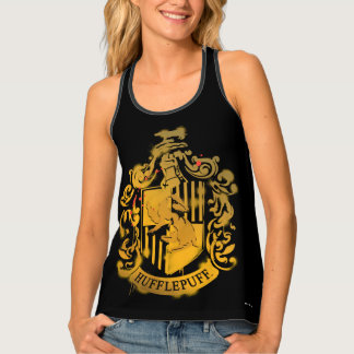 Hufflepuff Crest - Splattered Tank Top
