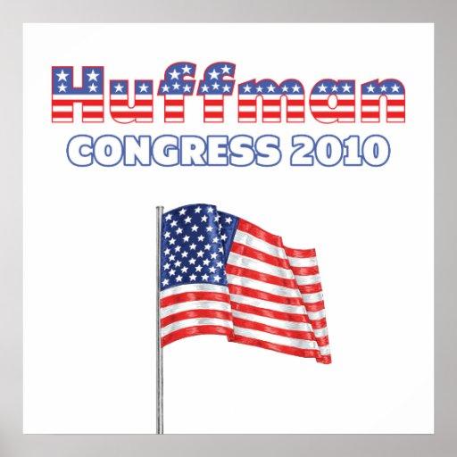 Huffman Patriotic American Flag 2010 Elections Print
