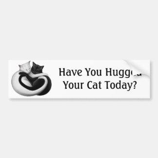 Hug a Cat Bumper Sticker