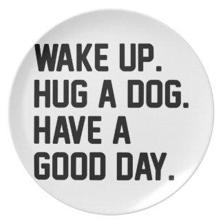 Hug a Dog Plate