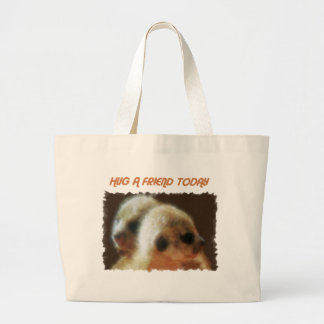 HUG A FRIEND TODAY LARGE TOTE BAG