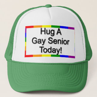 """Hug A Gay Senior"" Trucker Hat"