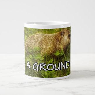 Hug a groundhog mug
