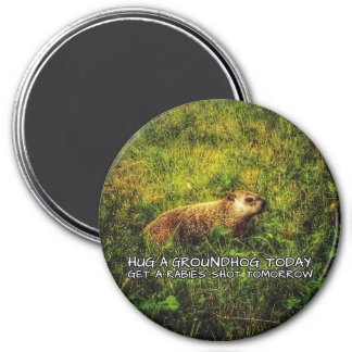 Hug a groundhog today. Get a rabies shot magnet