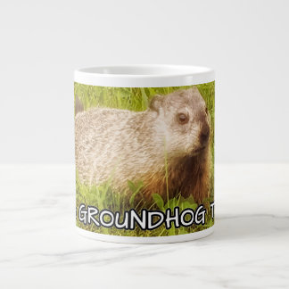 Hug a groundhog today mug