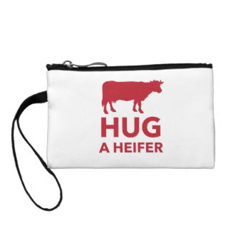 Hug a Heifer Funny Dairy Farm Coin Wallets