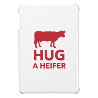 Hug a Heifer Funny Dairy Farm iPad Mini Cover