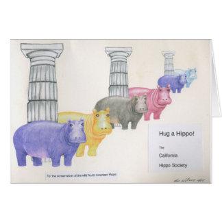 Hug a Hippo! Card