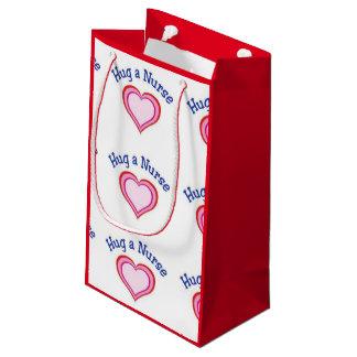 Hug A Nurse Heart Small Gift Bag