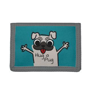 Hug a Pug Tri-fold Wallet