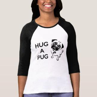 """Hug a Pug"" Women's Baseball Tee"