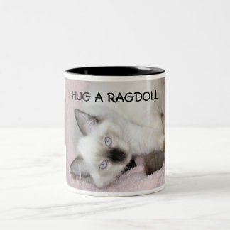 HUG A RAGDOLL Two-Tone COFFEE MUG