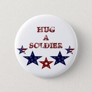 HUG A SOLDIER Button