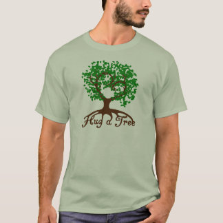 Hug a Tree Adult T-Shirt