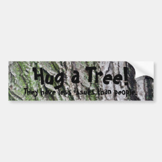 Hug a tree bumper sticker