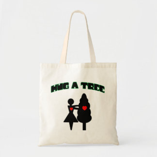 Hug a Tree w/Hearts Tote Bag