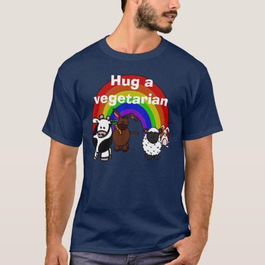 Hug a Veggie Dark T-shirt