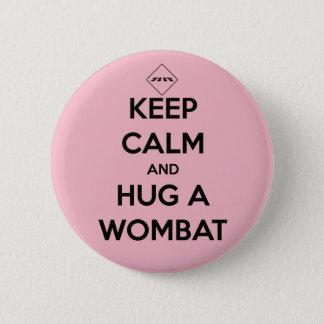 hug a wombat - badge 2 inch round button