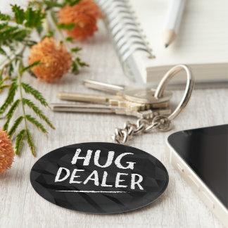 Hug Dealer Basic Round Button Keychain