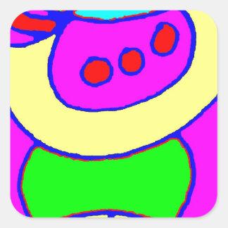 Hug Depth Square Sticker