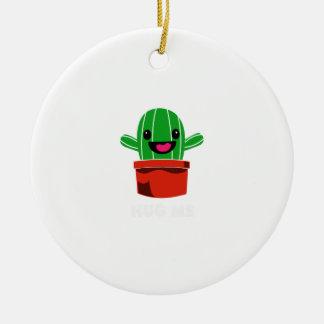 Hug Me - Cactus Ceramic Ornament