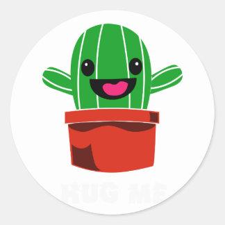 Hug Me - Cactus Classic Round Sticker