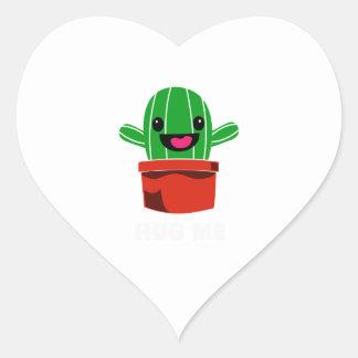 Hug Me - Cactus Heart Sticker