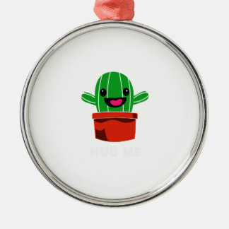 Hug Me - Cactus Metal Ornament