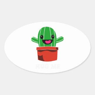 Hug Me - Cactus Oval Sticker