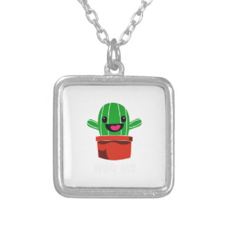 Hug Me - Cactus Silver Plated Necklace