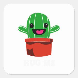Hug Me - Cactus Square Sticker
