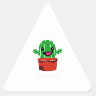 Hug Me - Cactus Triangle Sticker