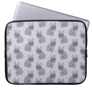 Hug me, cute Lilac Frenchie needs a hug Laptop Sleeve