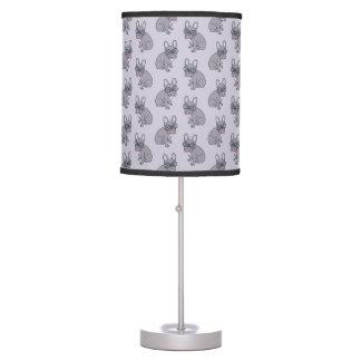 Hug me, cute Lilac Frenchie needs a hug Table Lamp