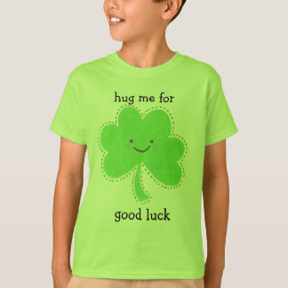 hug me for good luck kids st. Patricks day t-shirt