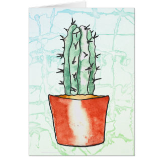 """Hug me"" fun card with succulent"