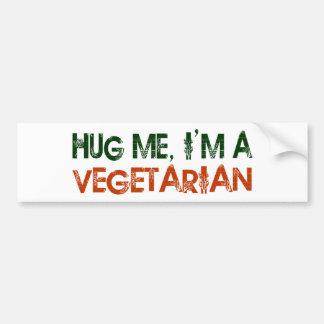 Hug Me I'M A Vegetarian Bumper Sticker