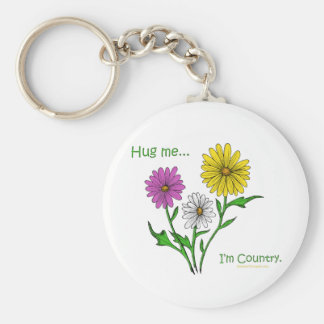 Hug Me...I'm Country Basic Round Button Keychain