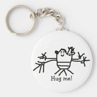 Hug me! basic round button keychain