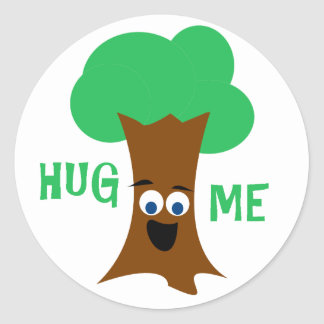 Hug Me (Treehugger) Classic Round Sticker