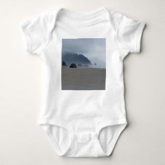 Hug Point Oregon Coast on a Misty Day Baby Bodysuit