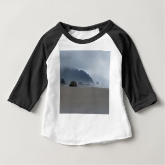 Hug Point Oregon Coast on a Misty Day Baby T-Shirt