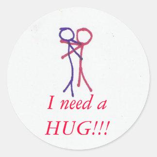 Hug, stickers
