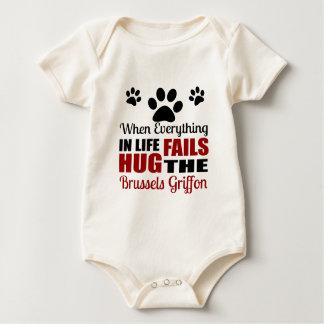 Hug The Brussels Griffon Dog Baby Bodysuit