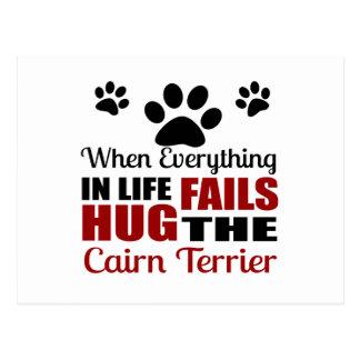 Hug The Cairn Terrier Dog Postcard
