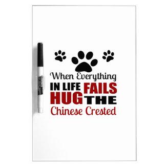 Hug The Chinese Crested Dog Dry-Erase Whiteboard