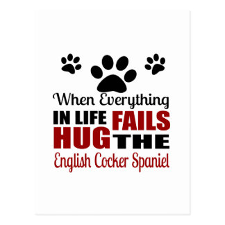 Hug The English Cocker Spaniel Dog Postcard
